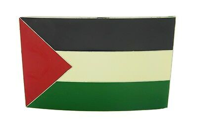Palestine Belt Buckle Mens Womens Fashion Metal Wavy Flag Middle East Arab New