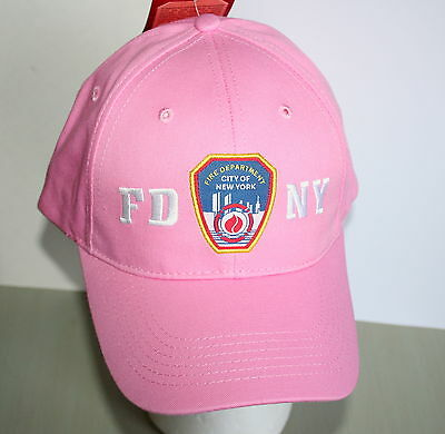 New York City Fire Dept FDNY Pink Baseball Cap Hat New 2006 OSFA Womens