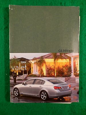 2006 06 Lexus GS 430 GS 300 Valet Quick Reference Owners Manual Near New  N41B
