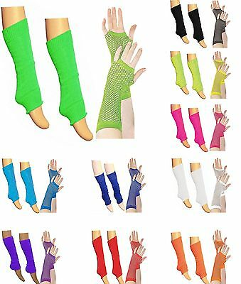 Ladies Girls Teen 80's Dance Plain Ribbed Leg Warmers Legwarmers Tutu Legwarmer