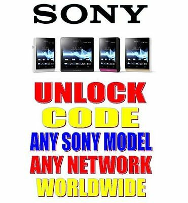 FACTORY UNLOCK CODE FOR SONY XPERIA S X Z J Arc NEO PLAY ONY ANY NETWORK/COUNTRY