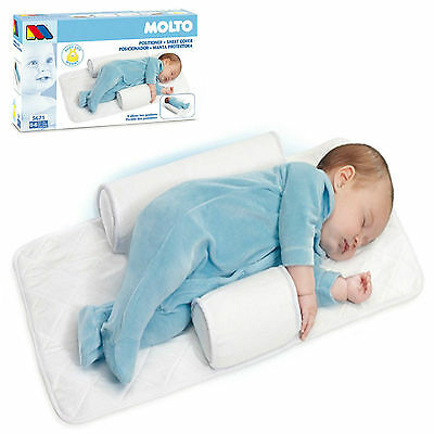 Molto Baby Infant Newborn Sleep positioner Anti Roll Pillow With Sheet Cover