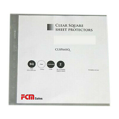 A4 Clear Square Sheet Protectors Pack Of 50