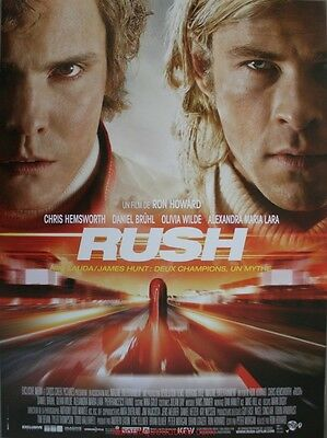 RUSH Affiche Cinéma Originale ROULEE 53x40 Movie Poster NIKI LAUDA JAMES HUNT