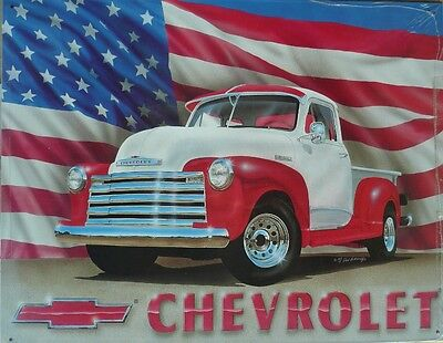 CHEVY 51 PICK UP  Nostalgic  Auto Memorabilia Metal Sign