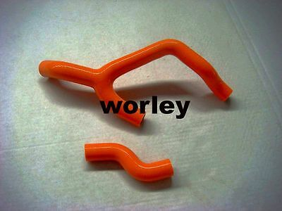 Orange silicone radiator hose for KTM 350SXF 2013 2014 13 14