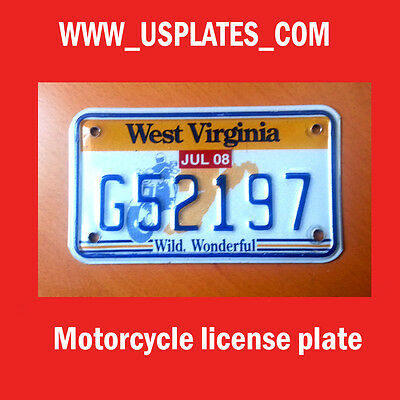 West Virginia Motorcycle License Plate Tag Bike Harley Davidson Cycle