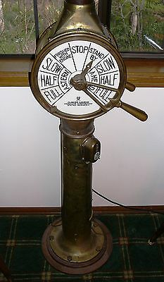 Authentic US Navy ship navigation station telegraph World War II Chadburn DURKEE