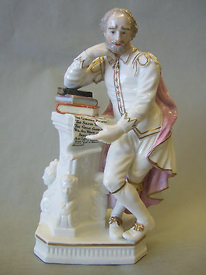 Antique Derby frigure of  Shakespeare, english porcelain, 18thc 30% OFF
