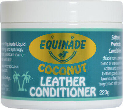 Equinade Leather Care Coconut Conditioner Saddlery Car Furniture shoes 220g
