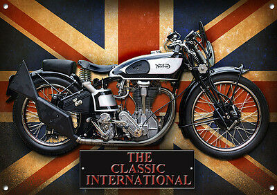 LARGE A3 SZE INDIAN SPORT SCOUT METAL SIGN,ENAMELLED FINISH.AMERICAN,CLASSIC.