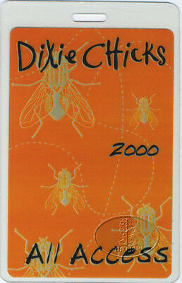 Dixie Chicks 2000 Fly Tour Laminated Backstage Pass Aa