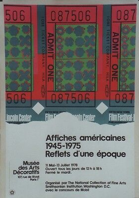 """""""EXPO AFFICHES AMERICAINES 1945-1975"""" Affiche entoilée Litho Andy WARHOL 55x80cm"""