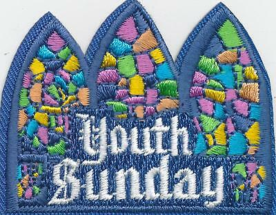 Girl Boy Cub YOUTH SUNDAY SERVICE Fun Patches Crests Badges SCOUT GUIDE Church