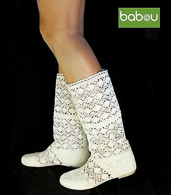Summer Crochet Boots Baboots Available In Five Colors