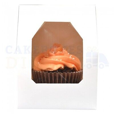 Single Premium Cupcake Box + Divider Cheapest On Ebay Choose Your Colour + Qty