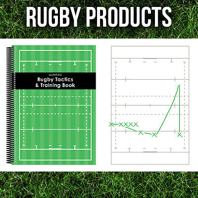 3 x COACHES ESSENTIALS - RUGBY TACTICS TRAINING NOTEPADS -  A4, A5 & A6