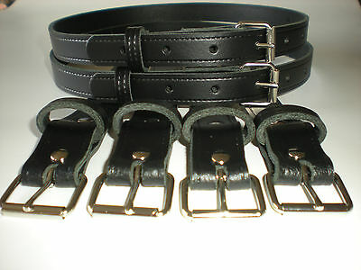 Coach built vintage pram real leather suspension straps in black