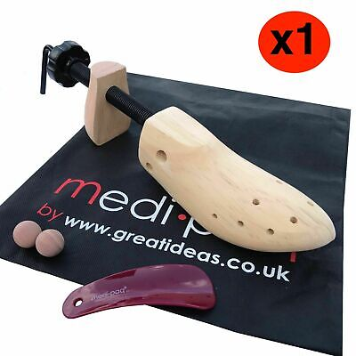 MEDIPAQ™ Quality Wooden Shoe Stretcher - Gents or Ladies Size - Lengthen & Widen