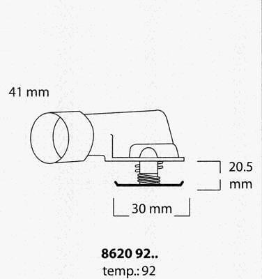 Thermostat Refroid TRISCAN OPEL VECTRA B Break 2.5 i V6 170 CH