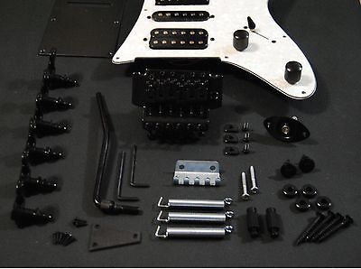 Kit Completo Hardware Guitarra JEM - Full Black Hardware JEM Guitar Set