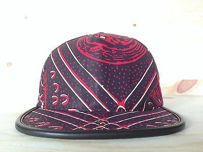 b3c54623846 Supreme Cairo Five 5 Panel Hat Snapback Burgundy Red Leather Camp Cap Box  Logo
