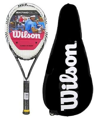 Wilson Six Two BLX 100 Black Tennis Racket With Full Cover RRP £190