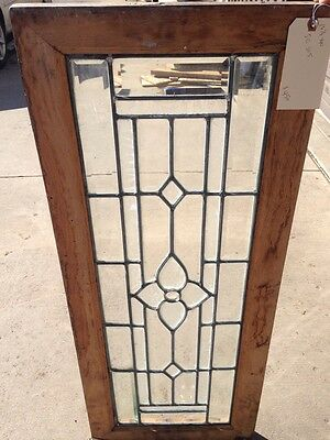 Sg 305 Beveled And Textured Glass Transom