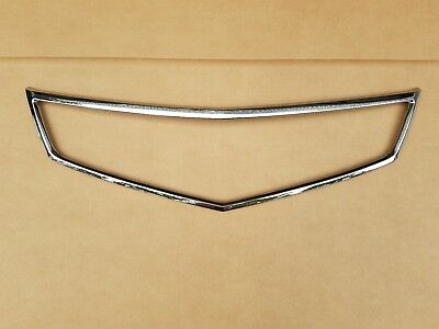 fits 2006-2008 ACURA TSX Front Bumper Grille Chrome Moulding Surround Frame Trim