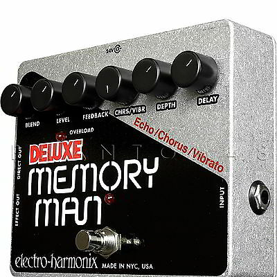 Electro-Harmonix Deluxe Memory Man Analog Delay EHX Guitar Effects Pedal - NEW