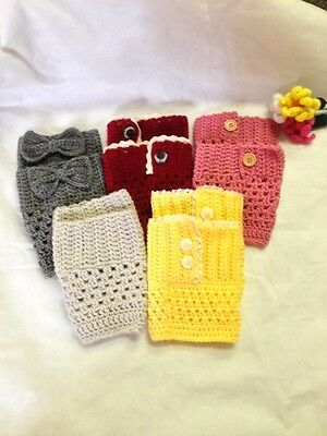 Hand Crochet Lace Boot Cuffs Toppers Warmers Made to Order NEW!