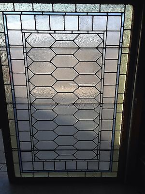 Sg 602 Large Stained-Glass And Texture Glass Window Antique