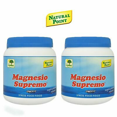 Magnesio Supremo Natural Point 2 Confezioni da 300 g - 600 g Anti Stress
