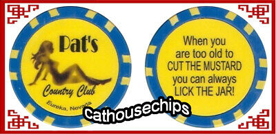 Pat's Country Club Brothel chip Token Eureka, NV Cathouse Whore house
