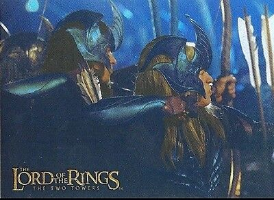 LORD OF THE RINGS - Prismatic Foil Card # 5 Elven Archers -Trading Card  - Topps