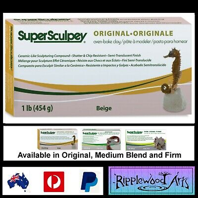 Super Sculpey ORIGINAL- 1lb (454gm) Beige - Oven Bake Clay