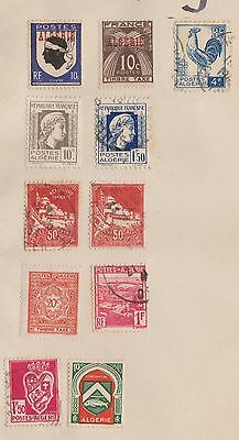 (EH54) 1924-47 Algeria mix of 11 stamps