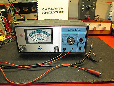 Vintage B & K Model 801 Capacitor Analyst with copy of Manual