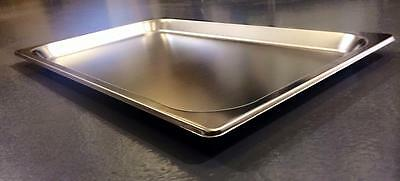 6 x Full Size 1/1 20mm Bain Marie Gastronorm GN Pan Tray Stainless Steel
