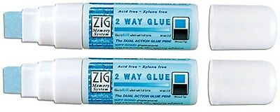 ZIG - Memory System - 2 Way Glue  - Jumbo Broad Tip - Huge 25g x 2