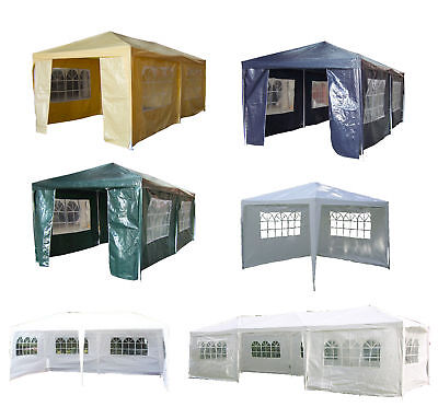 Outdoor 3M x 3M 4M 6M 9M Waterproof PE Gazebo Garden Marquee Canopy Party Tent