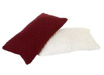 Luxuriously Soft Knitted Cushion Cover 45x45cm Filled - All Colours