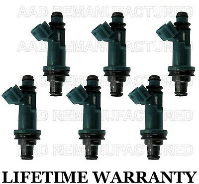 6x OEM Denso Fuel Injectors For 1999-2002 Toyota Solar 3.0L V6    #23250-20010