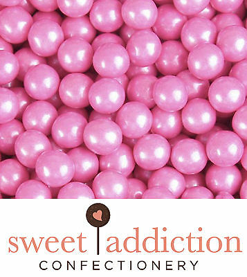 450g Pink Sixlets Wedding Birthday Candy Buffet Bulk - Sweet Addiction