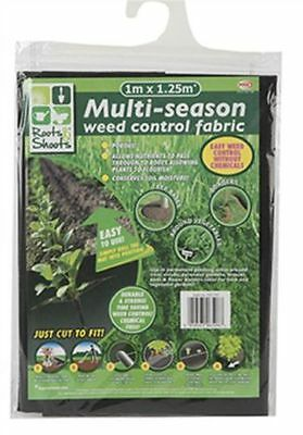 WEED CONTROL FABRIC GARDEN GROUND COVER SHEET GUARD CONTROLLER 1 x 1.25m
