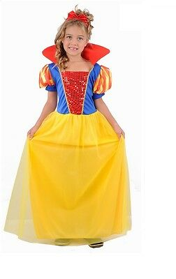 Girls Child Kids SNOW WHITE Fancy Dress Costume Fairy Princess Outfit Dress-up