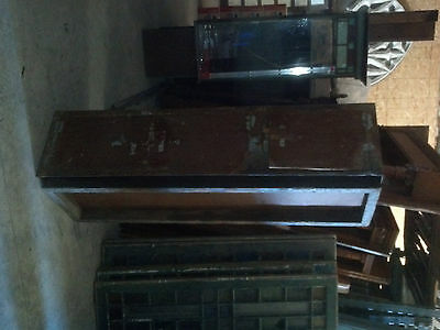 Antique INDUSTRIAL steel horizontal cabinet