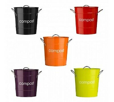 Pink Purple Blue Odour Beating Compost Pail Caddy Kitchen Food Waste Recycle Bin