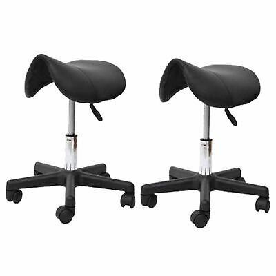 HOMCOM Saddle Stool Massage Stools Beauty Salon Manicure Swivel Chair