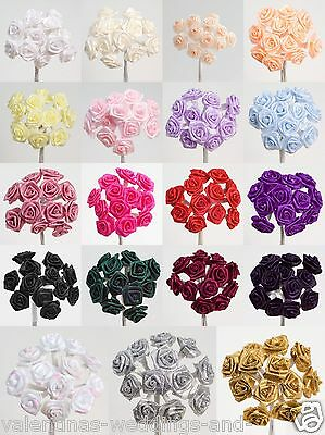 Miniature Ribbon Rose Flower - 19 Colours Cards Favours Crafts Embellishment
